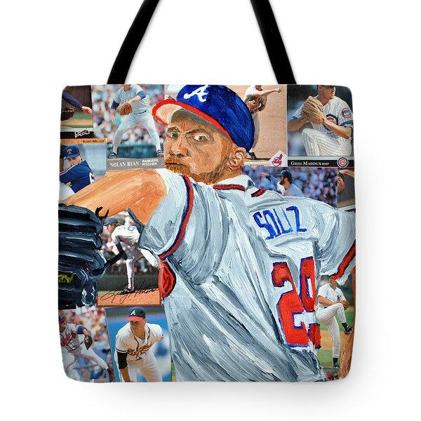 Smoltz Tote Bag by Michael Lee