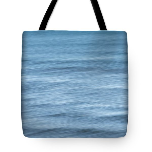 Smooth Blue Abstract Tote Bag by Terry DeLuco