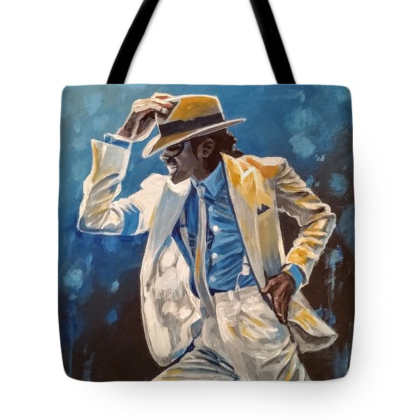 Tote Bag featuring the painting Smooth Criminal by Jennifer Hotai