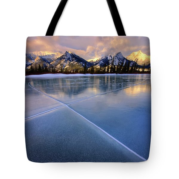 Smooth Ice Tote Bag by Dan Jurak