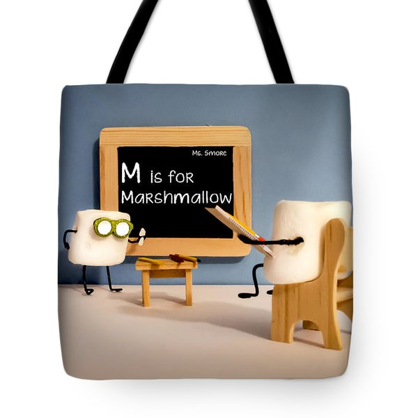 Smore School Tote Bag by Heather Applegate