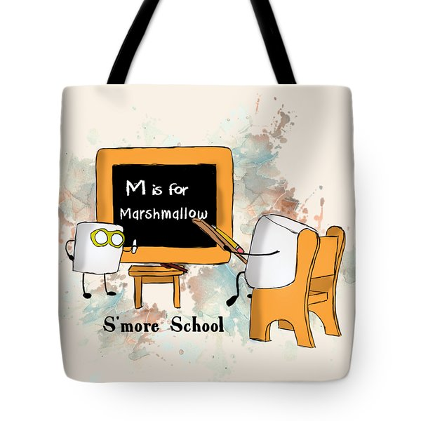 Smore School Illustrated Tote Bag by Heather Applegate