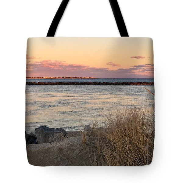 Tote Bag featuring the photograph Smugglers Beach Sunset II by Michelle Wiarda