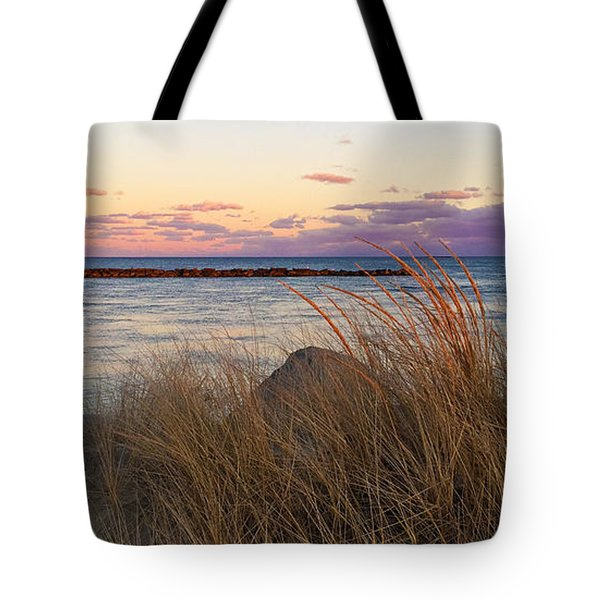 Tote Bag featuring the photograph Smugglers Beach Sunset by Michelle Wiarda