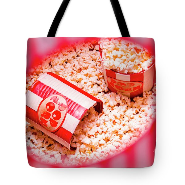Snack Bar Pop Corn Tote Bag
