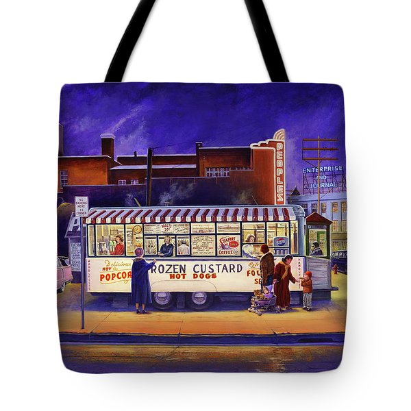 Snack Wagon Tote Bag