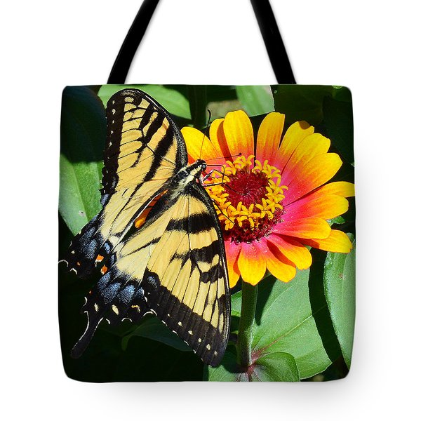 Snacking Tiger Swallowtail Butterfly Tote Bag