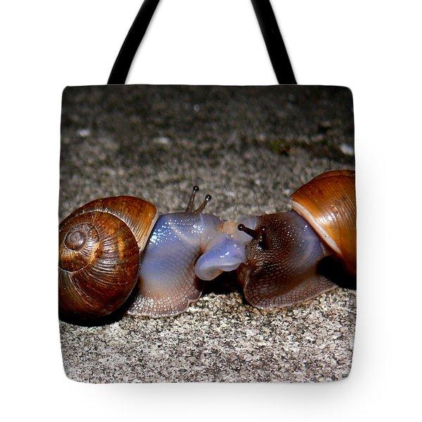 Snail Love Tote Bag