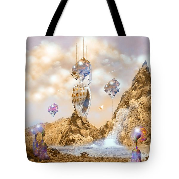 Snail Shell City Tote Bag
