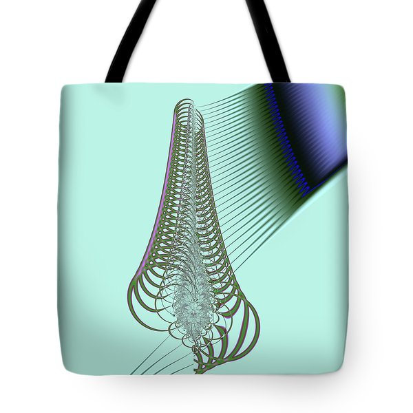 Tote Bag featuring the digital art Snail Shell by Dragica  Micki Fortuna