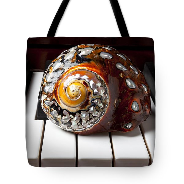 Snail Shell On Keys Tote Bag by Garry Gay