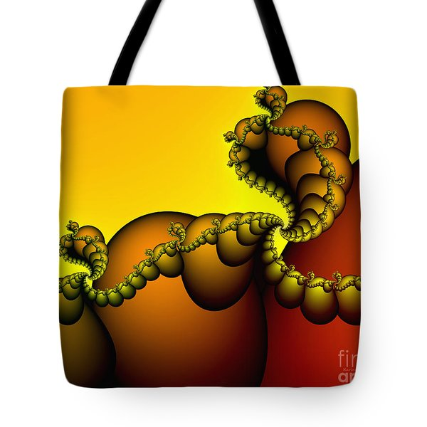 Tote Bag featuring the digital art Snails Convoy by Karin Kuhlmann