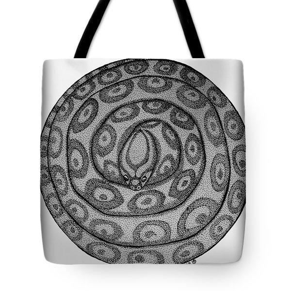 Snake Ball Tote Bag by Nick Gustafson