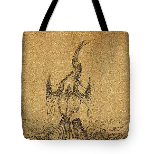 Snake Bird Or Darter  Tote Bag