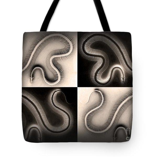 Snake Bones Tote Bag