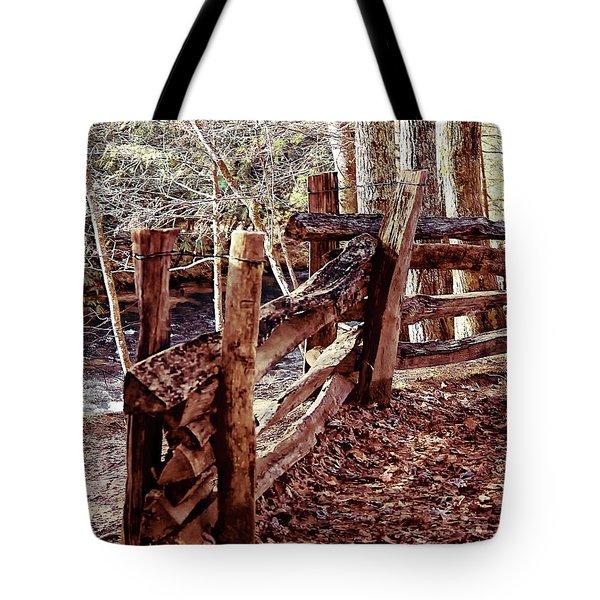 Snake Fence Tote Bag by B Wayne Mullins