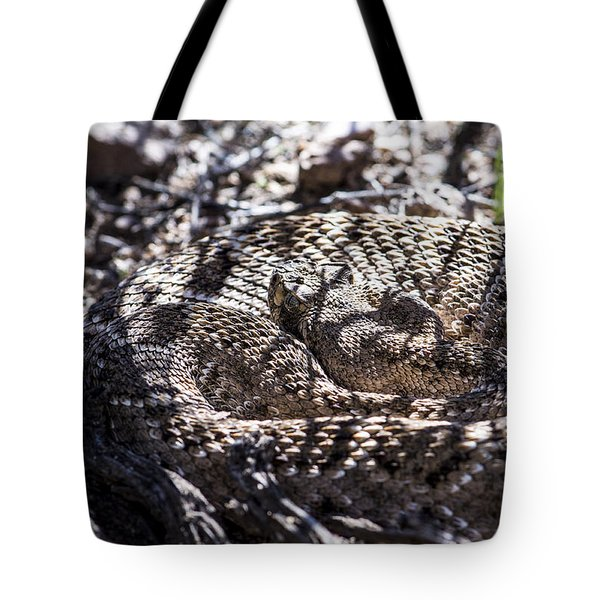 Snake In The Shadows Tote Bag by Chuck Brown