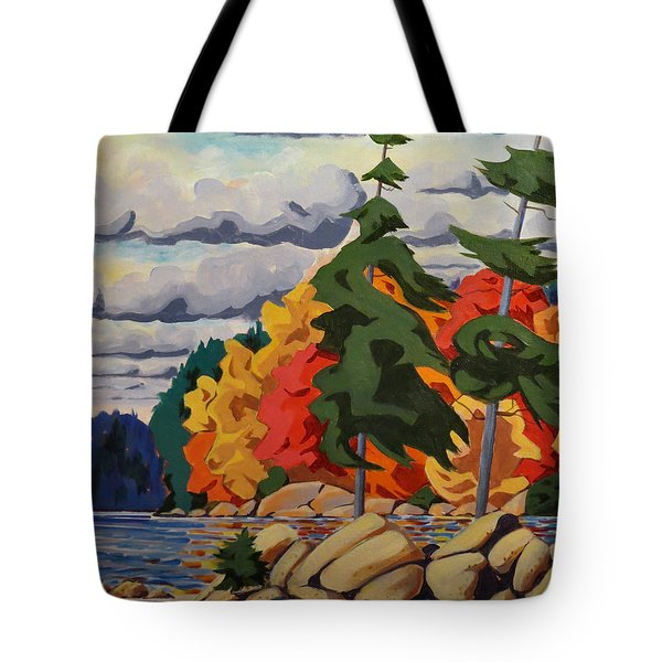 Snake Island In Fall-close Tote Bag