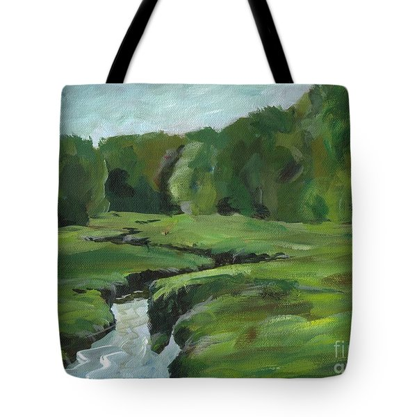 Snake Like Creek 2 Maine Tote Bag by Claire Gagnon
