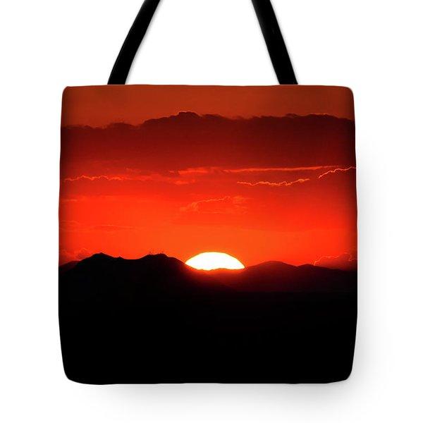 Snake River Plain Sunset Tote Bag by Greg Norrell