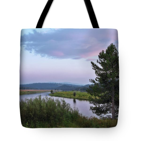 Tote Bag featuring the photograph Snake River Sunset by Sharon Seaward
