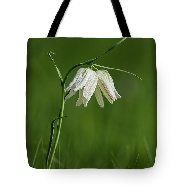 Snake's Head With Two White Bells Tote Bag