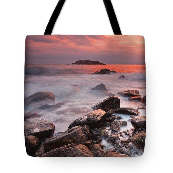 Snake's Island Tote Bag by Evgeni Dinev