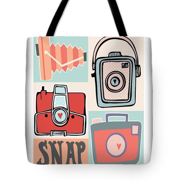 Snap - Vintage Cameras Tote Bag