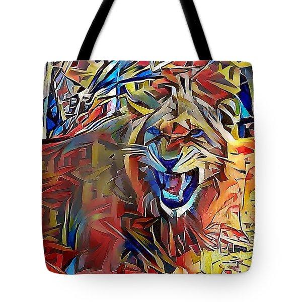 Snarling Lion Tote Bag