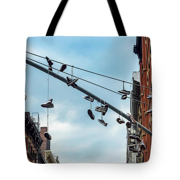 Sneakers From Up Above Tote Bag