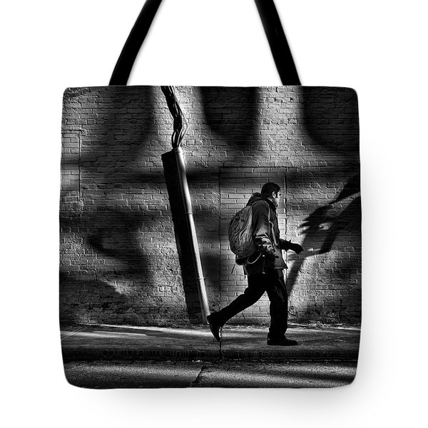Sneakin' Thru The Alley Tote Bag by Brian Carson