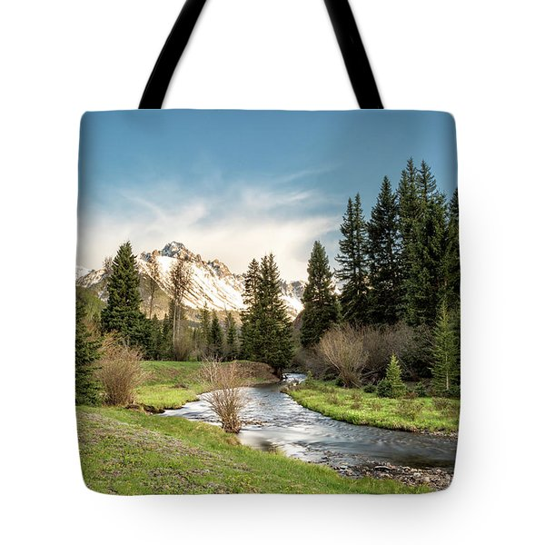 Sneffels And Spring Stream Tote Bag
