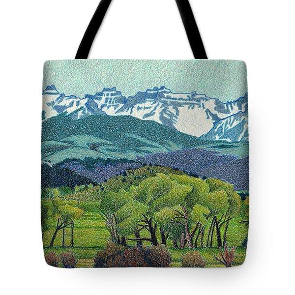 Sneffels Range Spring Tote Bag