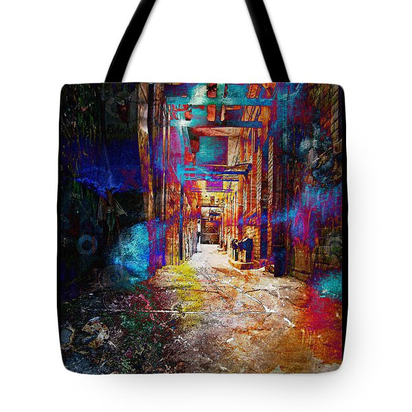 Tote Bag featuring the photograph Snickelway Of Light by Phil Perkins
