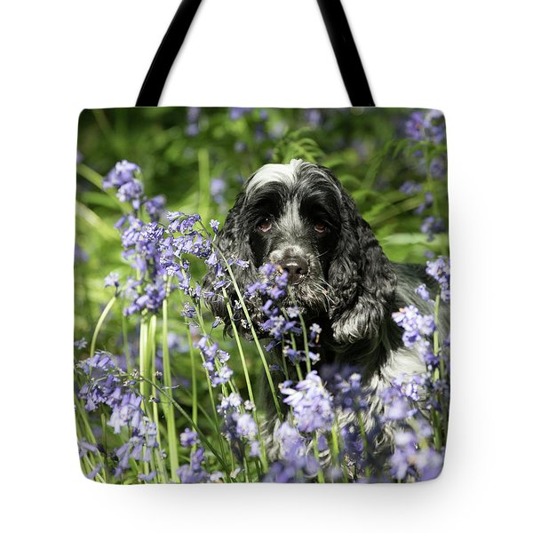 Sniffing Bluebells Tote Bag