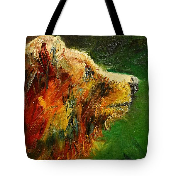 Sniffing For Food Bear Tote Bag by Diane Whitehead