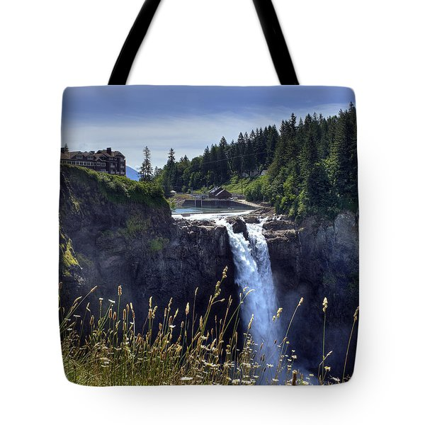Snoqualmie Falls Tote Bag by Chris Anderson