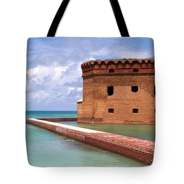 Snorkelers Fort Jefferson Tote Bag