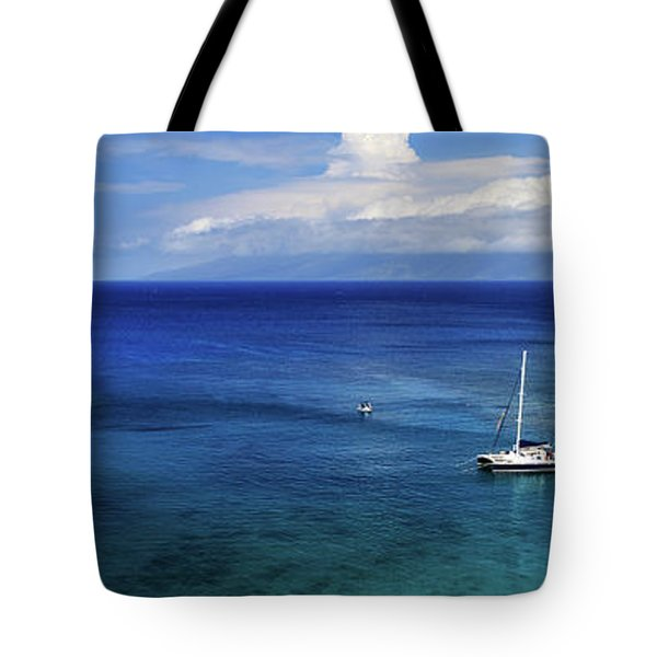 Tote Bag featuring the photograph Snorkeling In Maui by James Eddy