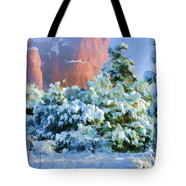 Snow 07-093 Tote Bag by Scott McAllister