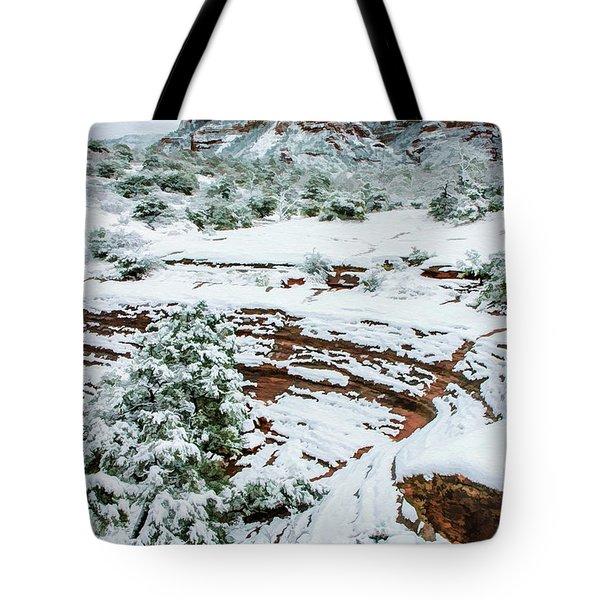 Snow 09-037 Tote Bag by Scott McAllister