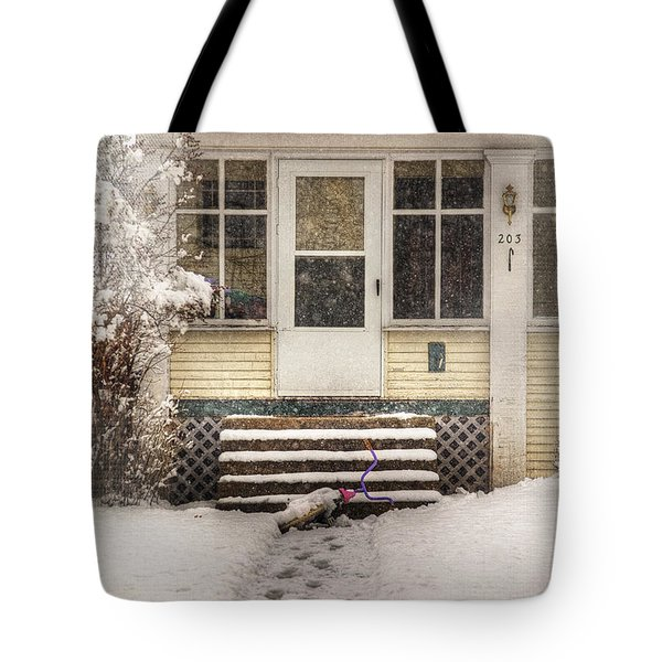 Snow 203 Door Tote Bag