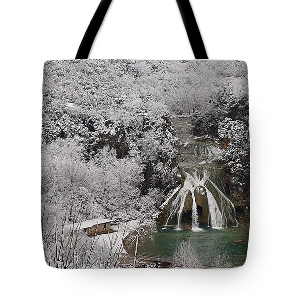 Snow And Turner Falls 2 Tote Bag