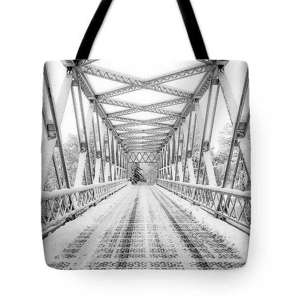 Tote Bag featuring the photograph Snow Angles by Kendall McKernon