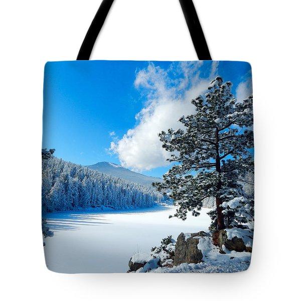 Snow At Beaver Brook Tote Bag