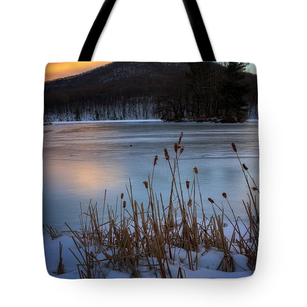Snow At The Peaks Tote Bag