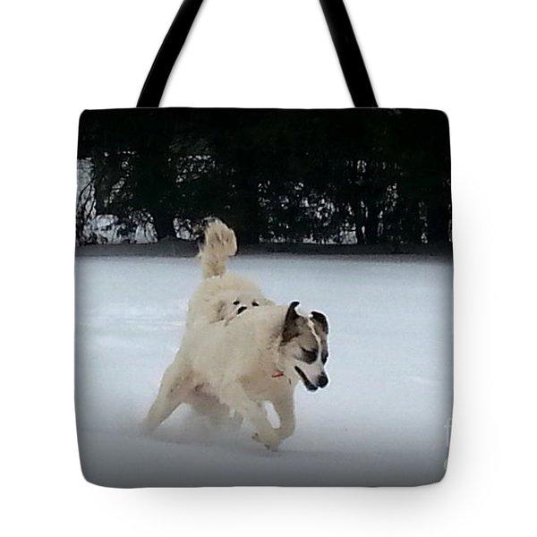 Snow Babies Tote Bag