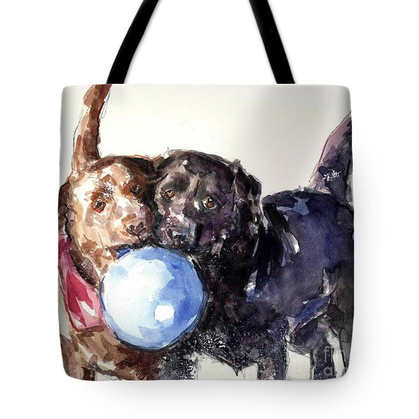 Snow Ball Tote Bag by Molly Poole