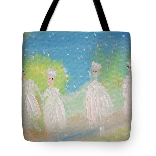 Snow Ballet Tote Bag by Judith Desrosiers