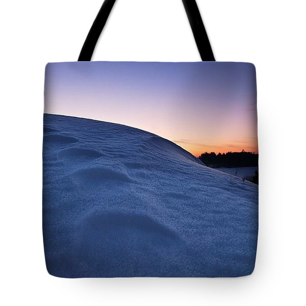 Snow Bank Tote Bag by Hannes Cmarits